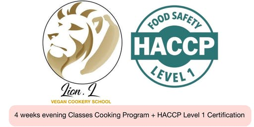 Lion.L Vegan Cookery School 4 Weeks Program + HACCP Level 1