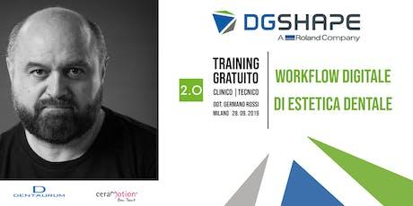 Masterclass DGSHAPE: Workflow  Clinico/Tecnico di Estetica Digitale - Gratuito biglietti