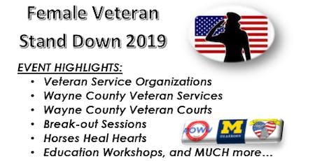 2019 Female Veteran Stand Down entradas
