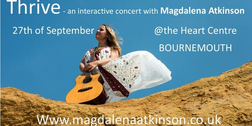 THRIVE - an interactive autumn concert with MAGDALENA ATKINSON & drum with Natasha