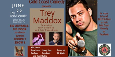 Comedy Night with Trey Maddox at the Artful Dodger  tickets