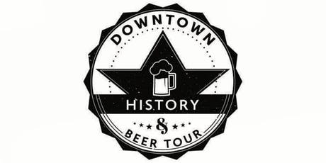 Downtown History & Beer Tour - July tickets