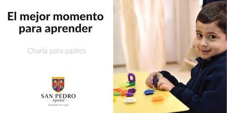 El mejor momento para aprender - Charla para padres entradas