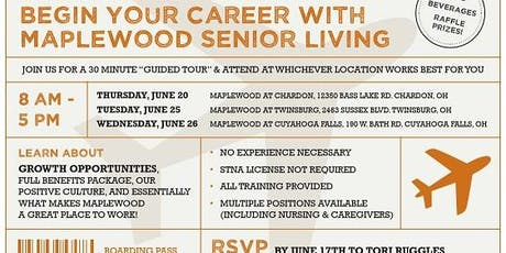 Maplewood Senior Living at Chardon Career Fair tickets