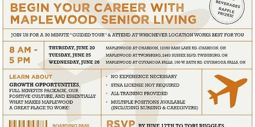 Maplewood Senior Living at Chardon Career Fair