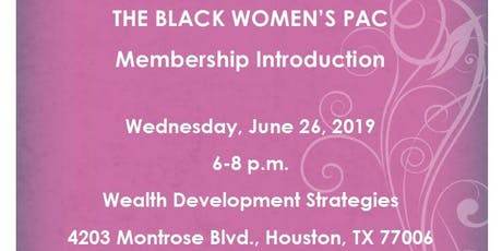 Black Women's PAC Membership Introduction tickets