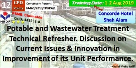 Potable and Wastewater Treatment Technical Refresher tickets