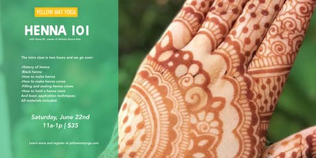Be Adorned: Henna 101 w/Alana M.  tickets