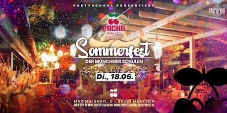 Sommerfest der Münchener Schulen im Pacha ab 16 Tickets