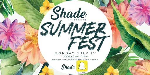 Shade Presents: Summerfest at Tamango Nightclub | July 1st