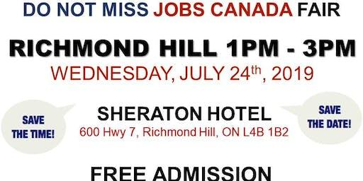 Richmond Hill Job Fair – July 24th, 2019
