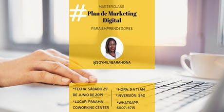 Masterclass - Plan de Marketing Digital para Emprendedores entradas