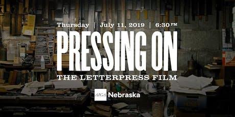Pressing On: The Letterpress Film Screening tickets