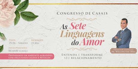 Congresso de Casais - As sete linguagens do amor ingressos