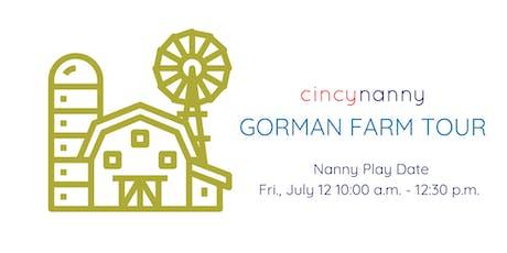 CincyNanny PlayDate | Gorman Farm Tour tickets