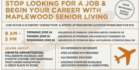 Maplewood Senior Living Career Fair  at Twinsburg tickets