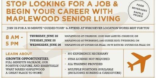 Maplewood Senior Living Career Fair  at Twinsburg