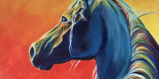 Canvas and Cocktails: Painting Horses