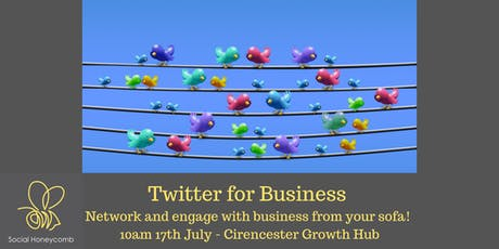 Twitter for Business - how to network from your sofa.  tickets