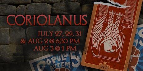 Shakespeare Academy @ Stratford presents CORIOLANUS tickets