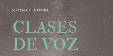 Clases de Voz  2019 tickets