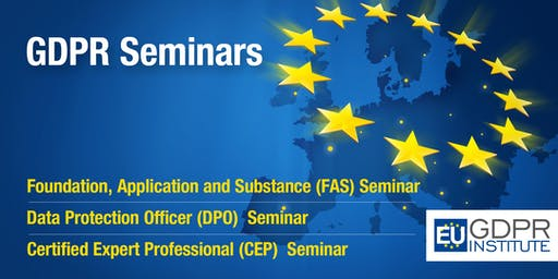GDPR Seminar (FAS, DPO & CEP) with certification exam - Malta