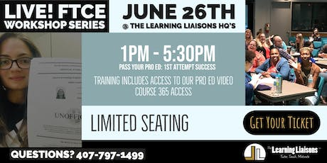 FTCE Prep @ The Learning Liaisons:  Pass Your Professional Education Test On The 1st Attempt tickets