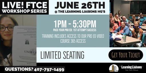 FTCE Prep @ The Learning Liaisons:  Pass Your Professional Education Test On The 1st Attempt