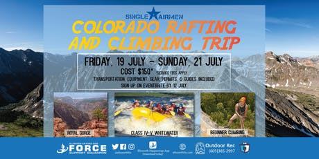 Ellsworth AFB Colorado Rafting and Climbing Trip for Single Airmen tickets