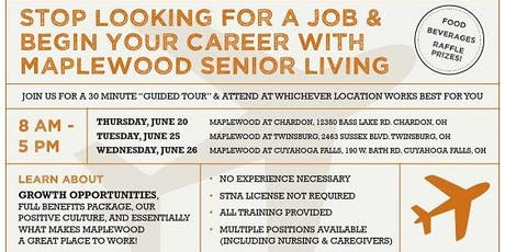 Maplewood Senior Living Career Fair at Cuyahoga Falls tickets