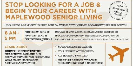 Maplewood Senior Living Career Fair at Cuyahoga Falls