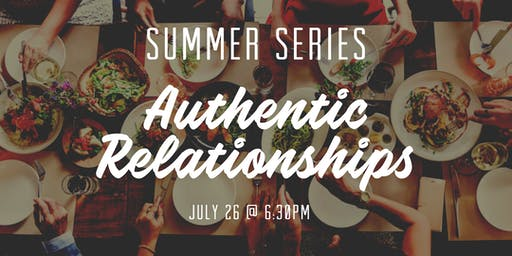 Elevate Women July Meetup : Authentic Relationships