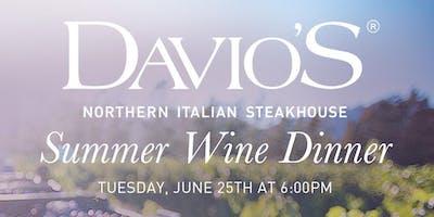 Summer Wine Dinner at Davio's Braintree