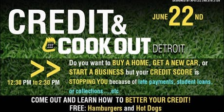 CREDIT & COOK OUT tickets