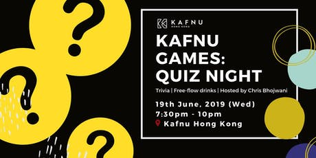 Kafnu Games - Quiz Night tickets