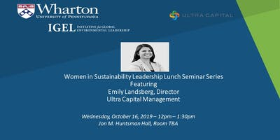 Women in Sustainability Leadership Lunch Seminar Series