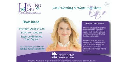 Healing & Hope Luncheon Featuring Elizabeth Smart
