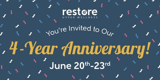 Restore Hyper Wellness 4 Year Anniversary Party