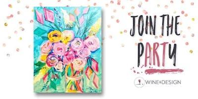 Sip + Paint | Floral Pop