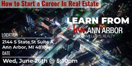 How to Start A Career in Real Estate tickets
