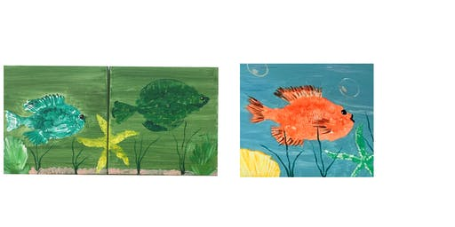 "Kids Open Paint (7yrs+) ""Gyotaku Fish Prints"""
