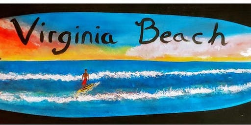 """Paint a """"Virginia Beach"""" Surfboard at New Realm Brewery"""