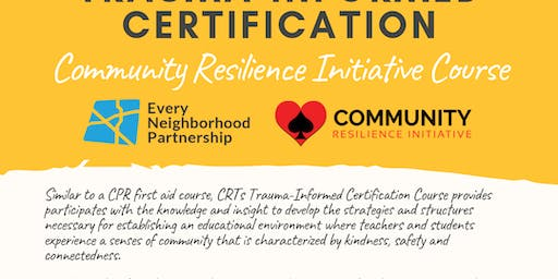 Course One: Trauma-Informed Certification Training