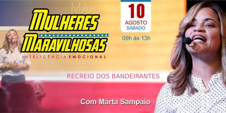 Workshop Mulheres Maravilhosas - Com Marta Sampaio  ingressos