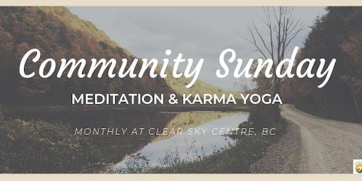 Community Sunday at Clear Sky Retreat Centre