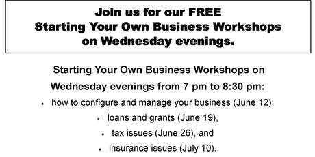 St. John Learning Center Starting Your Business Wednesday Workshops tickets