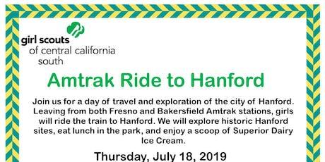 Amtrak Trip to Hanford - Kern tickets