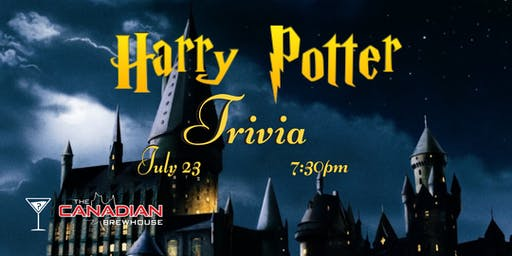 Harry Potter Trivia - July 23, 7:30pm - Canadian Brewhouse Mahogany