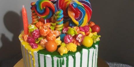 Cake Decorating: drip cake tickets