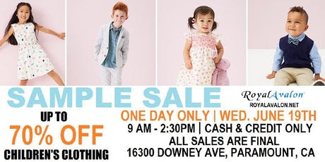 SAMPLE SALE - Everything under $5 - Baby / Infant / Toddler clothing tickets